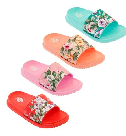 Wholesale Footwear Girls Floral Slide