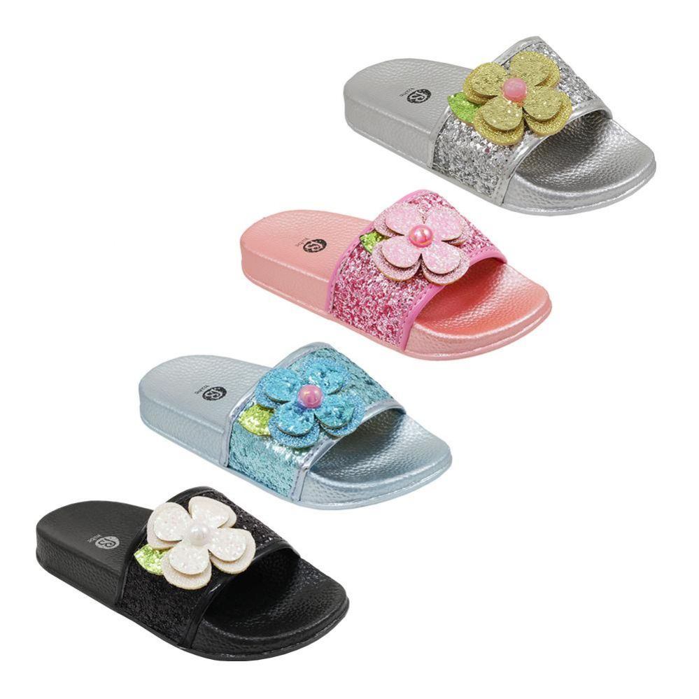 Wholesale Footwear Girls Babe Rhinestone Slide