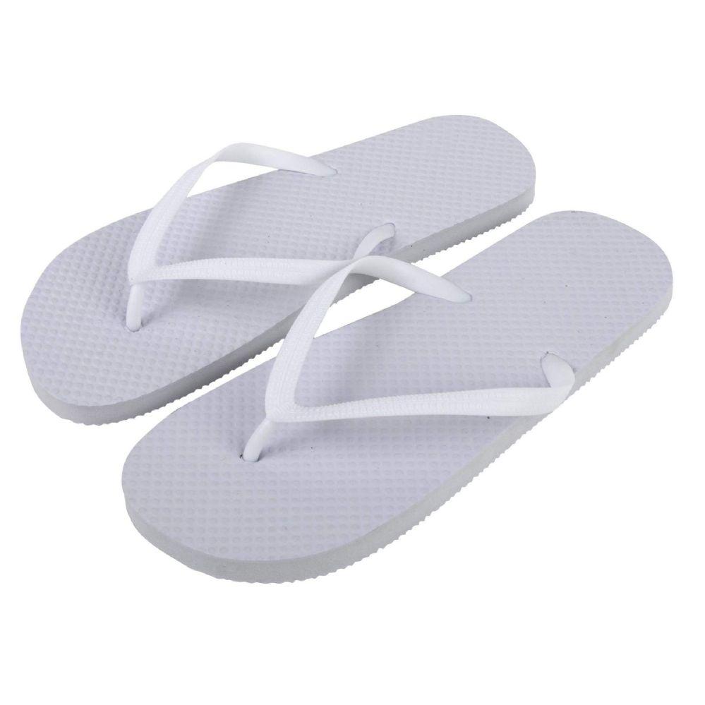 Wholesale Footwear Women's Flip Flops - White