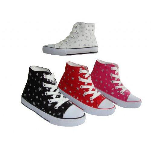 Wholesale Footwear Toddler High-Top Printed Canvas Shoe.