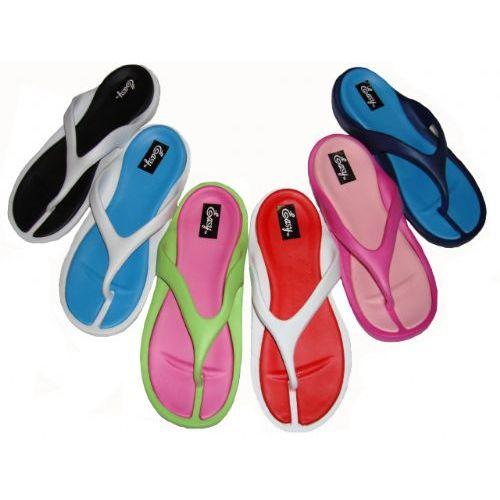 Wholesale Footwear Ladies' Two Tone Thong