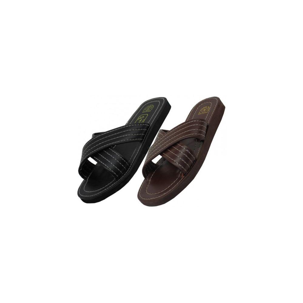 Wholesale Footwear Men's Pu. Upper X-Band Slippers