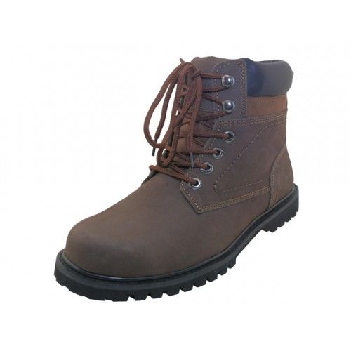 "Wholesale Footwear Men's ""himalayans"" 6 Inches Nubuck Insulated Leather Upper With Steel Toe Work Boots"