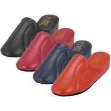 Wholesale Footwear Women's Close Toe Soft Vinyl Upper Heel House Slippers