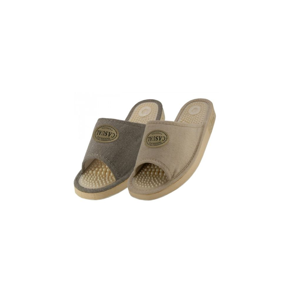 Wholesale Footwear Women's Open Toes Massage In Sole House Slippers