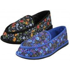 Wholesale Footwear Women's Floral Printed Bedroom Shoe