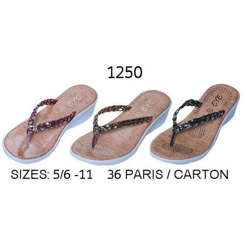 Wholesale Footwear Ladies Flip Flop With Braided Strap