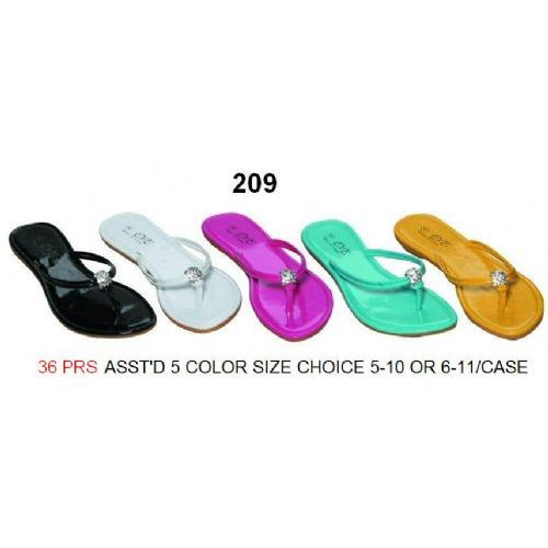 Wholesale Footwear Ladies Rhine Stone Flip Flop