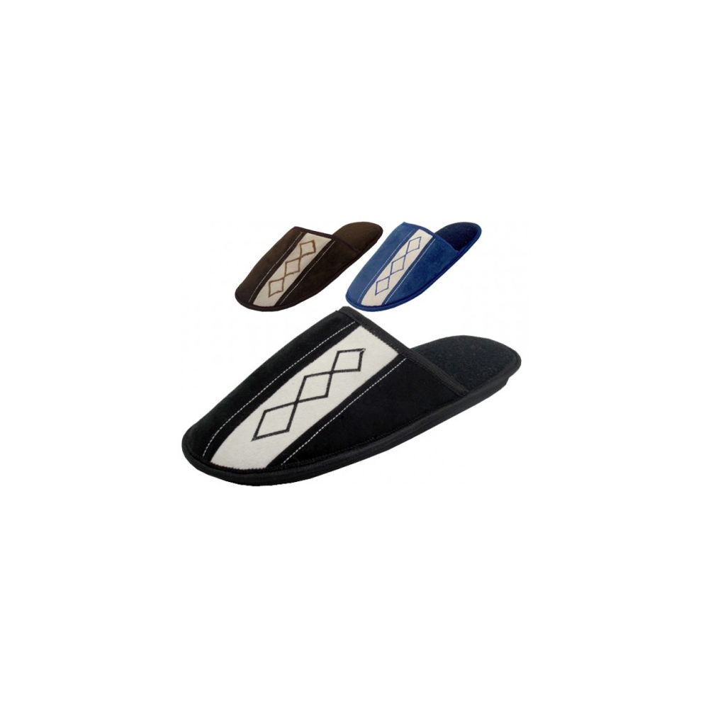 Wholesale Footwear Men's Velour Bed Room Slipper