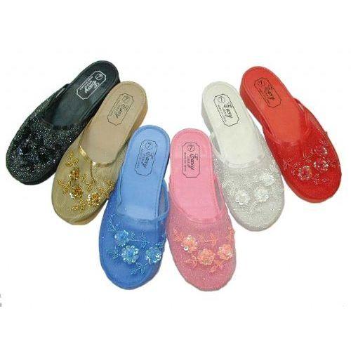 Wholesale Footwear Ladies Beaded House Slipper Size 5-10