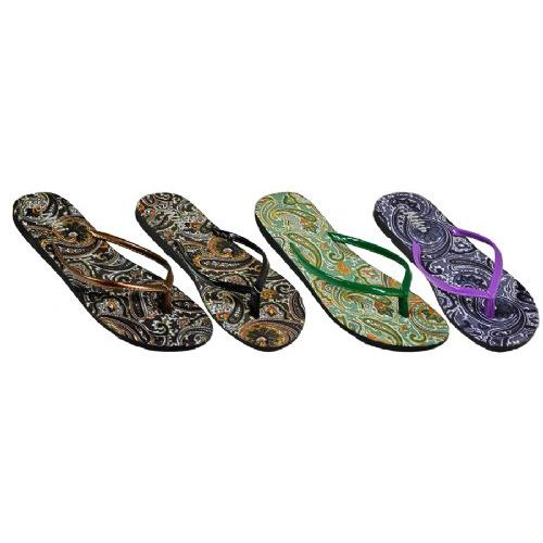 Wholesale Footwear Ladies Paisley Flip Flop