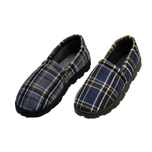Wholesale Footwear Plaid rubber bottom slippers