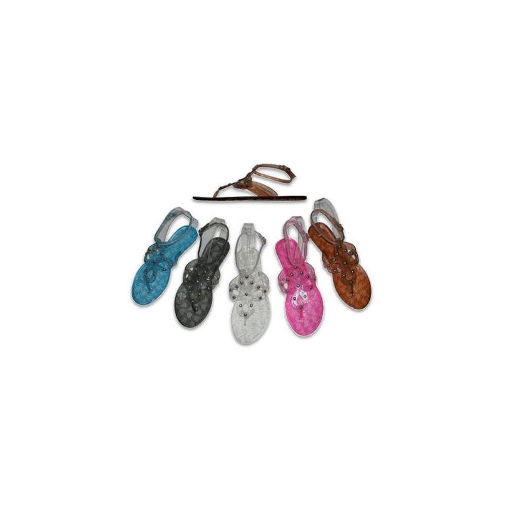 Women's jelly sandals size 10 - Wholesale Footwear Ladies Plastic Sandals Size 5 10 Blue Black White Pink