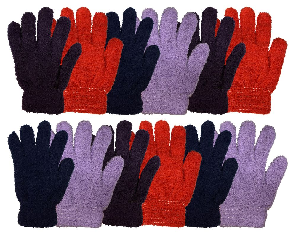 Wholesale Footwear Yacht & Smtih Womens Assorted Colors Warm Fuzzy Gloves