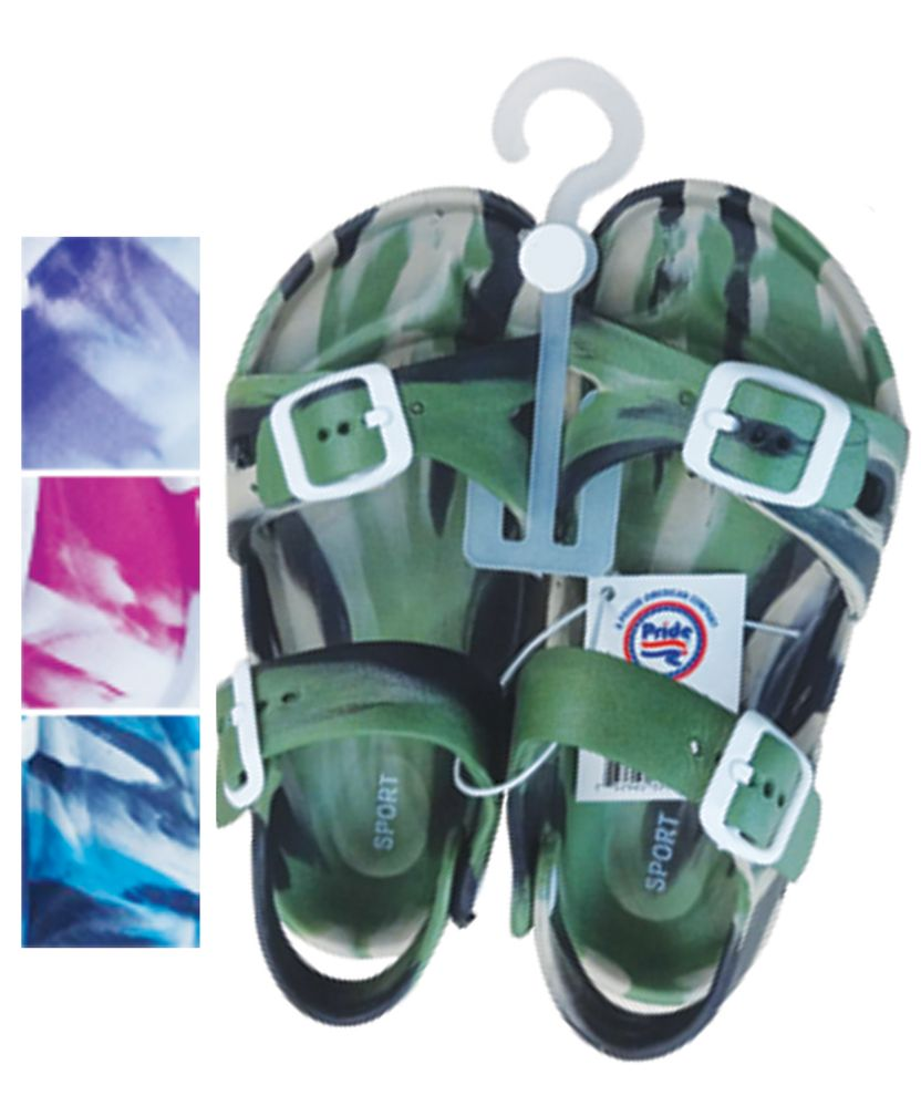 Wholesale Footwear Unisex Sandals Adjustable Straps Toddler Assorted Sizes 5-10 And Colors