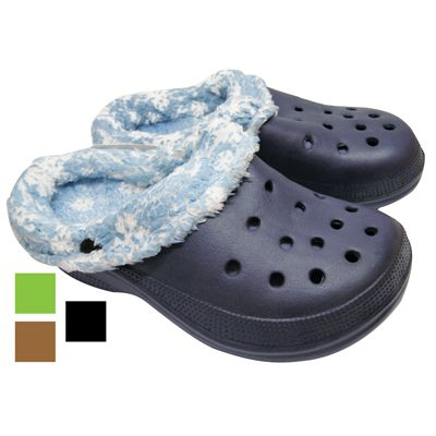Wholesale Footwear BOY' S FUR CLOGS ASSORTED SIZES ASSORTED PRINTED DESIGNS AND COLORS