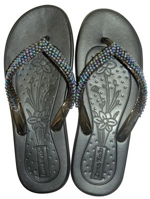 e0f07fcc8 Wholesale Footwear LADIES EMBELLISHED JELLY FLIP FLOPS ASSORTED SIZES 5-11