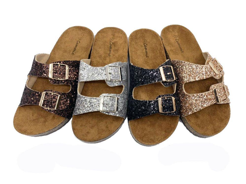 wholesale glitter sandals