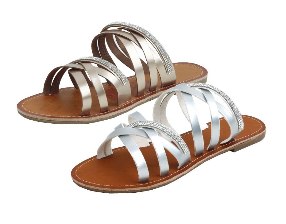 Wholesale Footwear Ladies Fashion Sandals In Rose Gold