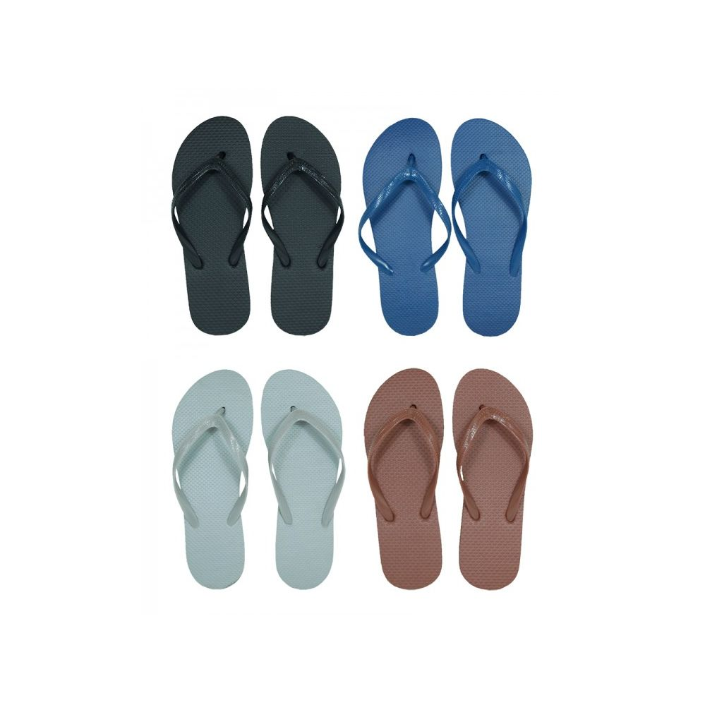 Wholesale Footwear Men's Solid Assorted Color Flip Flops