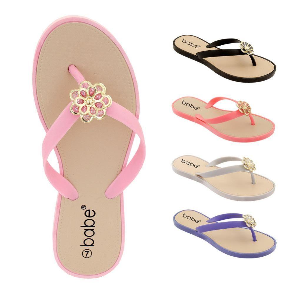 Wholesale Footwear Women's Rhinestone Flip Flop With Crystal Flower