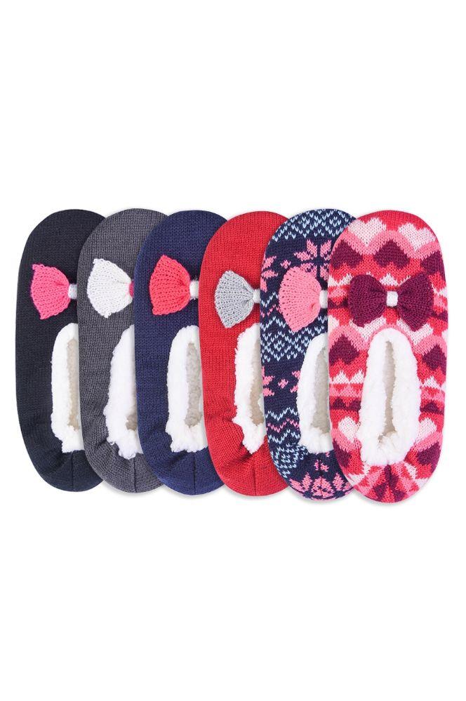 Wholesale Footwear Women's Sherpa Lined Cozy Slippers M/l