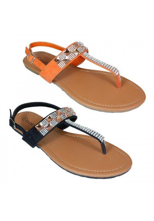 Wholesale Footwear Womens Fashion Flip Flops In Orange