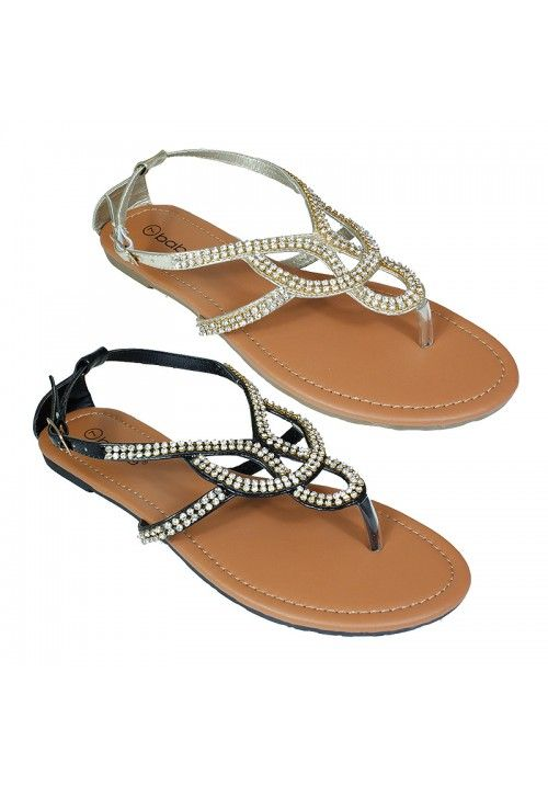 Wholesale Footwear Womens Fashion Sandals In Gold