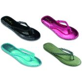 Wholesale Footwear Ladies Beaded Flip Flop