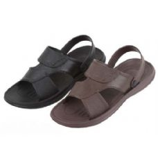 Wholesale Footwear Mans Black And Brown Sandal