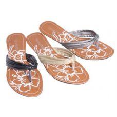 Wholesale Footwear Womans Flip Flop Flower Print