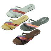 Wholesale Footwear Womans Flip Flop Assorted Color