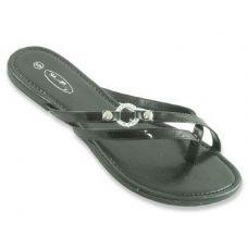 Wholesale Footwear Ladies Double Strap Flat Sandals