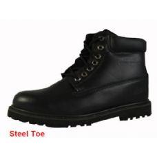 """Wholesale Footwear Men's Genuine Leather BootS--6"""" Steel Toe"""