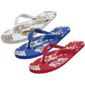 Wholesale Footwear Men's & Lady Floral Printed Flip Flops