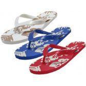 Wholesale Footwear Unisex Floral Printed Flip Flops