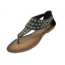 Wholesale Footwear Ladies Stud Sandal Black