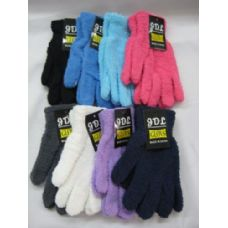 Wholesale Footwear Ladies Super Fuzzy Glove