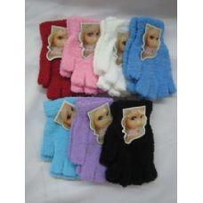 Wholesale Footwear Super Fuzzy Fingerless Gloves