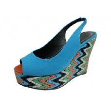 """Wholesale Footwear Ladies 4.5"""" Open Toe Wedge"""