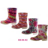Wholesale Footwear Children's Print Rainboots