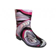 Wholesale Footwear Lady Mid Abstract Wave Rainboot