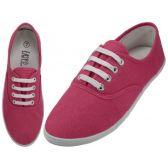 Wholesale Footwear Ladies Canvas Shoes Fuchsia Purple