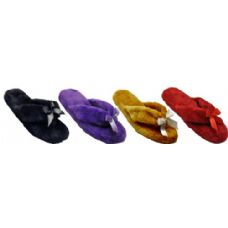 Wholesale Footwear Ladies Plush Flip Flop