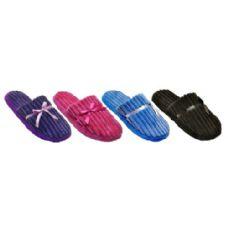 Wholesale Footwear Ladies Plush Slipper With Corduroys Texture