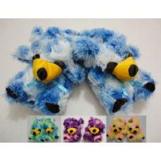 Wholesale Footwear Fuzzy Animal SlipperS--Multi Color Bear