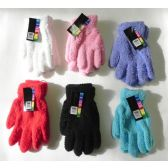 Wholesale Footwear Ladies Stretch Solid Fuzzy Gloves