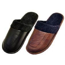 Wholesale Footwear men leather slippers