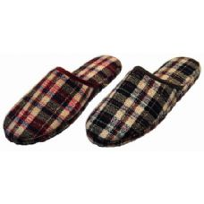 Wholesale Footwear Men Plaid Slippers