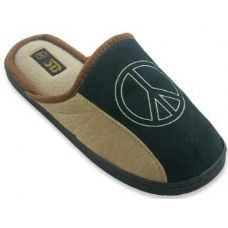 Wholesale Footwear Mens Slippers With Peace Sign